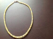 Gelb Beryll Halskette mit 585er Gelbgold Karabiner