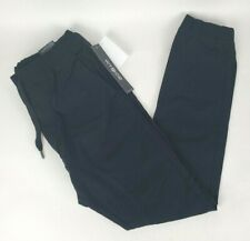 WT02 Mens Jogger Pants Stretch Twill Fabric Black Size Small NEW