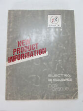 GM 1989 Electra Le Sabre Park Ave New Product Information Factory Manual Buick L