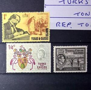 DUZIK: TURKS & CAICOS ISLAND  Mixed Selected Stamps (No758)**
