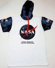 NASA HOODIE MEN'S SIZE LARGE WHITE BLACK RED