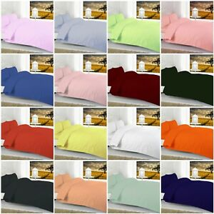 Luxury Cotton Bled FITTED BED SHEETS Elasticated Sides Single Double King Super