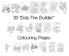 BOB THE BUILDER Colouring Pages - 20 Sheets - Perfect for Rainy Days & Holidays!