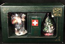 Alpine Santa and Tree Christmas Around the World Galleria Lucchese Roman Boxed