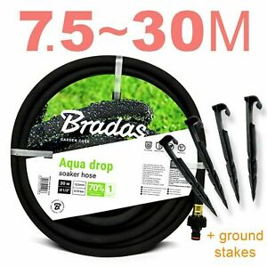 POROUS PIPE Leaky Garden Irrigation <7.5m~30m> Soaker Hose System // SPECIAL SET