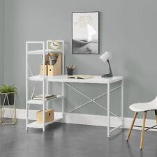 Schreibtisch mit Regal Bürotisch Computertisch Arbeitstisch PC Tisch Weiß