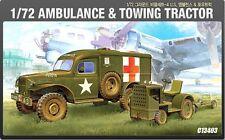 Academy 1/72 Plastic Model Kit Ambulance & Towing Tracktor #13403