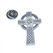 Celtic Cross Pewter Lapel Pin Badge Gifts For Him