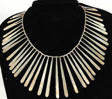 Vintage/Retro Mexican Sterling Silver Hand Forged Necklace Taxco Original Large