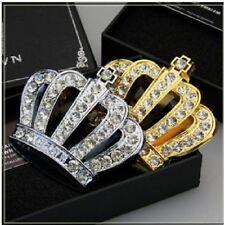 Car Metal Crystal Hood Ornament Badge Emblem Luxury VIP JP Crown Gold / Silver