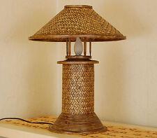 Tischleuchte Asiatisches Design Bambus Chinesische Lampe Handarbeit