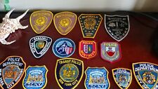 Police Patch collection New York City & Worldwide 14 patches vtg. 1980's + BONUS