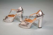 Samba plateformes shoes salsa gold silver talons High cuir heels 38 SZ leather