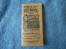 New Listing1929 Washington Red Book Guide with fold out map.