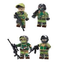 4pcs/lot Militär Soldaten Figuren mit Armee Waffen Bausteine Spielzeug Toys