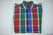 Bullock & Jones Multi Color Plaid Button Down Collar Dress Shirt Size: 15.5/32.5