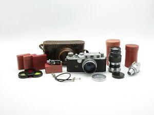 Leitz Wetzlar Leica III Messsucherkamera + Summitar f=5cm 1:2 + Elmar f=9cm 1:4