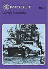 MG Midget Mk 3 Owners Handbook  1979 US Edition book paper