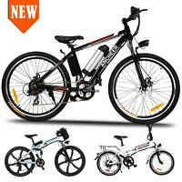 "Ancheer 26"" 250W 36V Folding Electric Mountain Bicycle EBike W/ Lithium Battery"