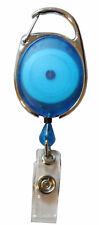 Badge Reel Pull Ring Retractable Badge Reel Carabiner Style For ID Badge Holders