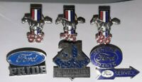 Mixed Lot of Lapel/Hat/Collector Pins~Ford Mustang~Nascar~Cars of Yesterday.
