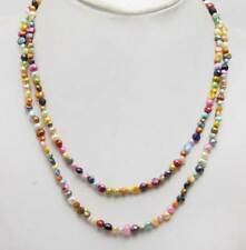 4-5mm Multicolor Baroque Natural Pearl Necklace for Woman Long Necklace 40''