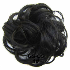 Messy Curly Bun Hair Piece Fake Natural Look Extensions Hairpiece Hair Scrunchie