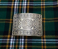 Men's Serpent Celtic Knot Kilt Belt Buckle Silver Brushed Antique Finish Buckles