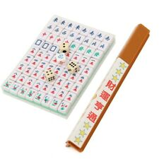 Home Fun Traditional Chinese Antique Mini Mahjong Plastic Table Board Game