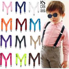 Jungen Mädchen Kinderhosenträger Kinder Hosen Träger Stretch Y Form Style Clips