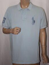 Polo Ralph Lauren Big Pony Horse Shirt Custom Fit #3 Light Blue Sz L Lage