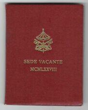 VATICANO SEDE VACANTE 1978 500 LIRE ARGENTO FDC UNC IN FOLDER ZECCA