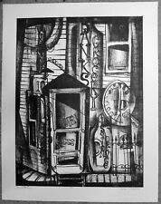 """GEORGE CALVERT.. """"BANKS GROCERY"""" original signed-numbered lithograph..7/20"""