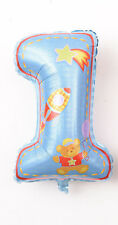 """32"""" Boy One Year Old First Birthday 1 Month Baby Shower Number Floated Balloon"""