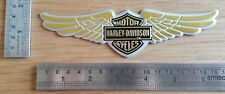 Harley Davidson 3D oro e insignia metálica con logotipo gráfico Calcomanía Moto alas de la etiqueta engomada
