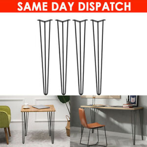 4Hairpin Legs/30 Inch/Hair Pin Legs Set for Furniture Bench Desk Table in Metal