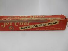 "JET CHEF BLACK ALUMINUM COOKING WRAP – 18"" WIDE."