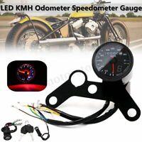 12V Motorcycle LED KMH Odometer Speedometer Tachometer Speedo Gauge Universal !