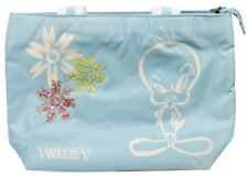 Looney Tunes TWEETY PIE Blue Zip Borsetta. TAG Nuovo di zecca con Divertente Regalo