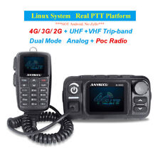 Anysecu 4G Internet Car Mobile Radio Real PTT with GPS Analogue Dual Band Radio