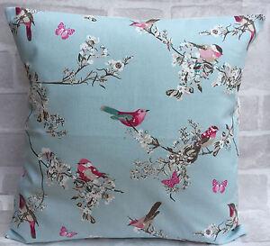 "Clarke and Clarke Vintage Beautiful Garden Birds cushion cover 14"" 16"" 18 inch"