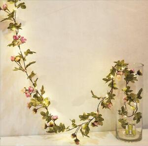 10M 100LED Fake Flower String Fairy Lights Tree Wedding Party Christmas Decor