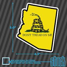 "Arizona State Don't Tread On Me - 4.3""x5.0"" - printed vinyl decal sticker AZ"