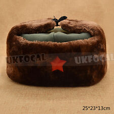 China Army Red Star Cap Winter Warm Hat Mao Communist Party Metal Badge New