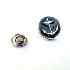 Black Circle Anchor Design Lapel Pin Badge Sailing Ship Boat Captain Badges New