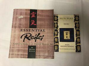 2x Reiki Books Essential Reiki A Complete Guide Thorsons Principles of Reiki
