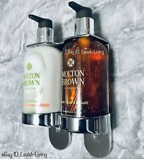 For Molton Brown 300ml Handwash Double Chrome Holder Dispenser Arc Wall Mount