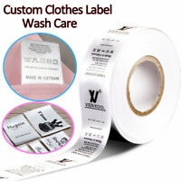 Personalized Garment Tag Clothing Label Wash Care Instruction Fabric Content DIY