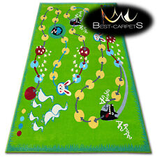 "AMAZING COLORFUL AGNELLA RUGS ""FUNKY TOP"" wolf green modern original designs"