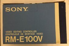 Vintage SONY RM-E100V Analog Video Editing Controller NEW Camcorder Betamax VHS